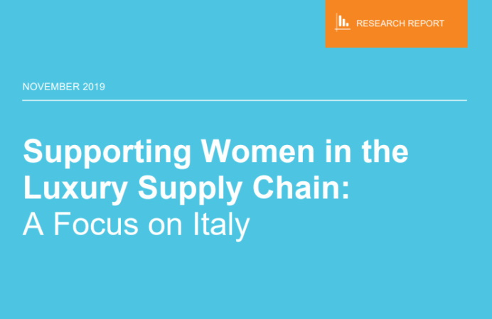 Supporting Women in the Luxury Supply Chain: A Focus on Italy