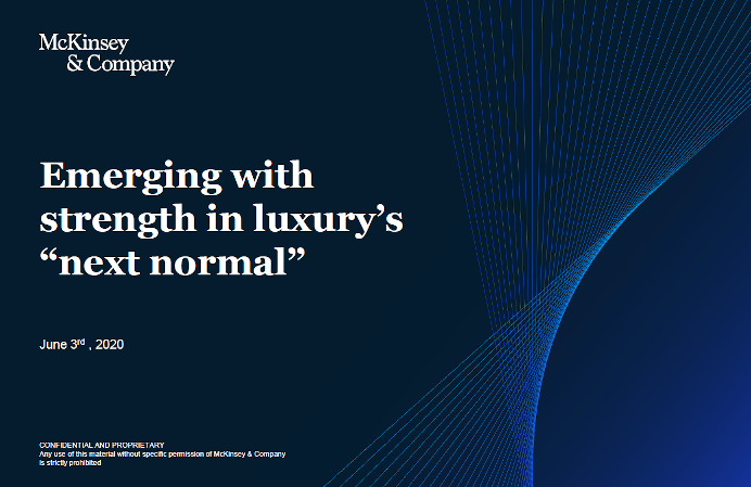 A perspective for the luxury-goods industry during and after coronavirus